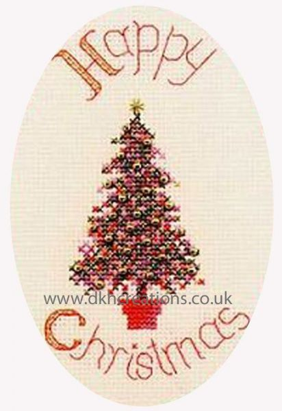 Festive Tree Christmas Card Cross Stitch Kit